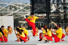 Dance performance at NDP 2012 Stock Images