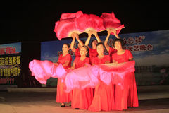 Dance performance on a stage, north china Royalty Free Stock Image