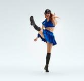 Dance in police uniform Stock Photos