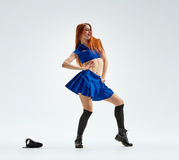 Dance in police uniform Royalty Free Stock Photo