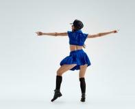 Dance in police uniform Stock Image