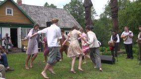 Dance polka children stock video