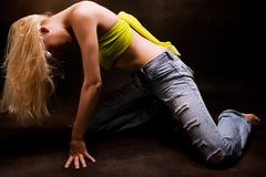 Dance pose Stock Image