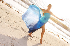 Dance Pose On Beach Stock Images