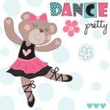Dance pretty teddy bear vector illustration Stock Photos