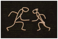 The Dance. Primitive handmade drawing. Royalty Free Stock Images