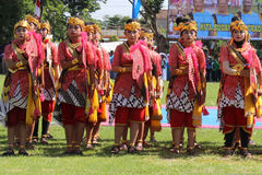 Dance Raden Mas Said Stock Image