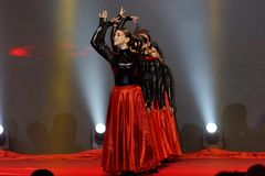 Dance red and black-Women entrepreneurs chamber of Commerce celebrations. In March 18, 2018, organized by the Nanchang Municipal Chamber of women entrepreneurs Stock Image
