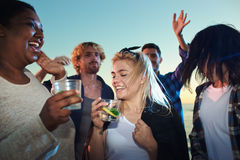 Dance and refreshment Stock Photography