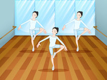 A dance rehearsal inside the studio Royalty Free Stock Photo
