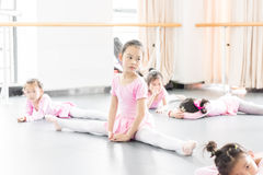 In the dance rehearsal room girl Stock Photo