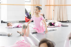 In the dance rehearsal room girl Stock Photo