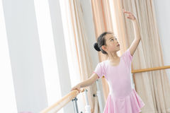 In the dance rehearsal room girl Royalty Free Stock Image