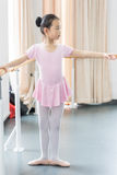 In the dance rehearsal room girl Royalty Free Stock Photography