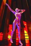 Dance robot Stock Image