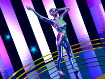 Dance robot Stock Images