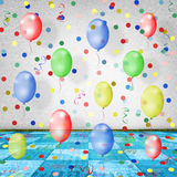 The dance room for the holidays with balloons Stock Image
