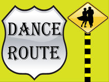 Dance route Royalty Free Stock Photos