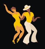 The dance salsa. Lady and gentleman dance Latin America dance salsa Stock Photos