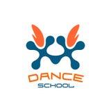Dance school logo template. Modern style. Stock Photography