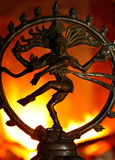 Dance of Shiva. With fire in background Stock Photo