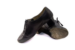 Dance shoes 3. Isolated old latino dance shoes Royalty Free Stock Image