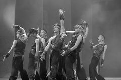 Dance show fishermen crying, struggle with fate Royalty Free Stock Photo