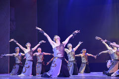 Dance show fishermen praying to the sky Royalty Free Stock Images