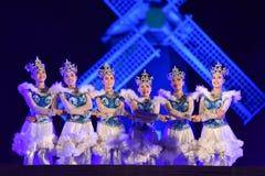 Dance Show Open Festival Red poinesettia garden 2017 Royalty Free Stock Image
