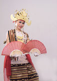 Dance Sigeh Pengunten. Is one of the new creations from lampung, indonesia Stock Image