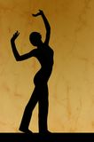 Dance silhouette Stock Photography