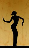 Dance silhouette Royalty Free Stock Photo