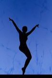 Dance silhouette Stock Image