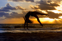 Dance Silhouette Stock Photos