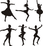 Dance silhouette - woman Stock Image