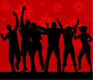 Dance silhouettes Royalty Free Stock Image