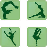 Dance silhouettes icons Royalty Free Stock Photo