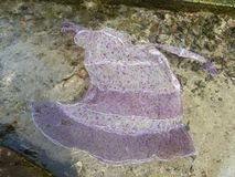 Dance silk dress in clear water Royalty Free Stock Image