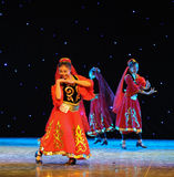 Dance of Sinkiang-Uygur national Dance-The campus show Royalty Free Stock Photos