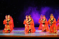 Dance of Sinkiang-Uygur national Dance-The campus show Royalty Free Stock Images