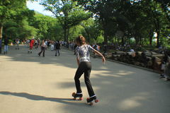 Dance skaters in Central Park Stock Images