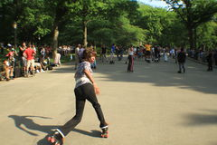 Dance skaters in Central Park Royalty Free Stock Photo