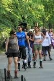 Dance skaters in Central Park Stock Photo