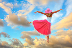Dance in sky Royalty Free Stock Image