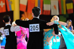 Dance sport competition. International open dancesport competition – Stanislav Shklyar's Cup . December 11-13, 2015, Dnipropetrovsk city, Ukraine Stock Photos