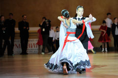 Dance sport competition Royalty Free Stock Photo