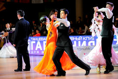 Dance sport competition Stock Photography