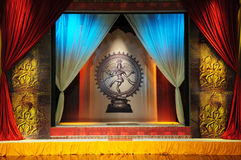 Dance stage. Decorated dancing stage with lord shiva Stock Images