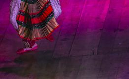 Dance Step in Bharatanatyam - Carnatic music royalty free stock photos