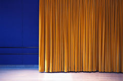 Dance Studio. With velvet curtain and spotlight Royalty Free Stock Image